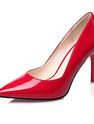 Women's Shoes Fleece Chunky Heel Heels Heels Casual Black / Purple / Red / White / Silver / Beige / Coral