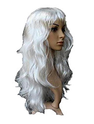 White Long Curly Wavy Wig