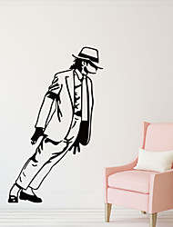 Music / Fashion the New Figure Jackson Wall Decals History / Shapes  Wall Stickers Plane Wall Stickers,VINYL 54*33cm