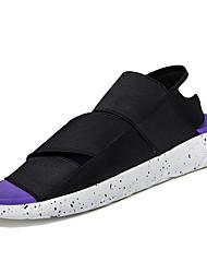 Chaussures Hommes-Décontracté-Noir / Violet / Noir et blanc-Synthétique-Sandales / Tongs