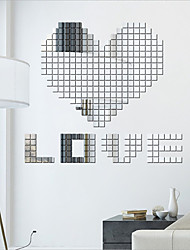 Square Three-dimensional Crystal Mosaic Mirror Wall Stickers 100PCS