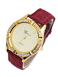 Women's Dress Watch Fashion Watch Quartz Leather Band Black White Blue Red Brown Green Multi-Colored