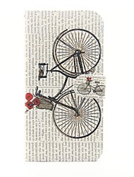 Bicycle Pattern PU Leather Full Body Case with Stand and Card Slot for iPhone 6s Plus 6 Plus 6s 6 SE 5s 5