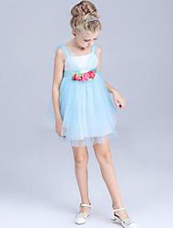 Girl's Blue / Pink / Purple Dress Polyester Summer