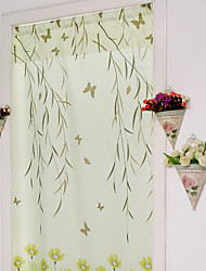 90cm*180cm One Panel Country Floral Green Polyester Door Panel Curtains Drapes