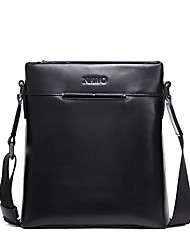 NAWO Men Cowhide Shoulder Bag / Tote Black-N154171M