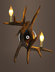 vintage Wall Lights Country Antler lights Industrial Fixture 2-Lights Living Room Bedroom Easy Installation