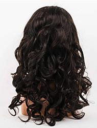 femmes brésiliennes couleur de cheveux vierges (# 1 # 1b # 2 # 4) perruques cheveux dentelle de vague de corps avant
