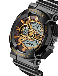 Multifunction Dual Display Outdoor Waterproof Electronic Cold Light LED Electronic Watches Shockproof
