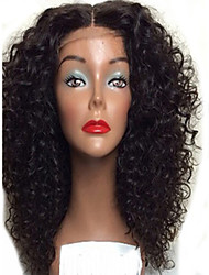 Kinky Curly Lace Wig Middle Part Unprocessed Human Hair Virgin Brazilian Kinky Curly Wigs Glueless Full Lace Wigs
