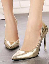 Women's Shoes Leatherette Stiletto Heel Heels Heels Wedding / Party & Evening Silver / Gold