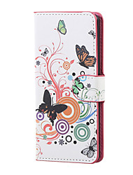 White butterfly Magnetic PU Leather wallet Flip Stand Case cover for Asus Zenfone Max ZC550KL