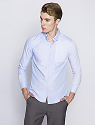 Men's Long Sleeve Shirt,Cotton Casual Striped / Patchwork
