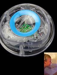 niños se bañan con flash submarino llevó colorido flotador bañera juguete lámpara de cielo azul transparente