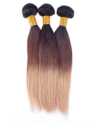 Halloween 300g/lot Brazilian Straight Ombre Virgin Hair 1B/4/27 Three Tone Color Human Hair Extensions Wholesales.