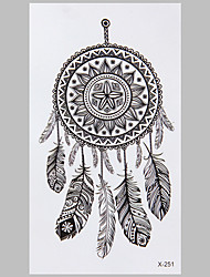 Fashion Tattoo Black Dreamcatcher Waterproof Tattoo Stickers