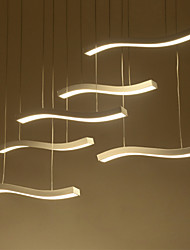 Wavy Design 90W LED Fashion Simple Acrylic Pendant Lights 6 lamp Living Room / Bedroom / Dining Room / Study Room/Office