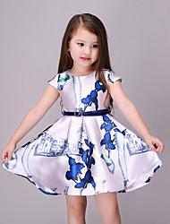 Girl's Blue Dress Rayon Summer