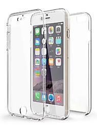 Para iPhone X iPhone 8 iPhone 6 iPhone 6 Plus Carcasa Funda Antigolpes Transparente Cuerpo Entero Funda Color sólido Suave TPU para