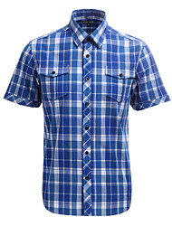 JamesEarl Herren Hemdkragen Kurze Ärmel Shirt & Bluse Blau-DA182030004