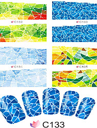 Decalques de transferência de água / Jóias de Unhas-Desenho Animado / Adorável- paraDedo- deOutro- com1pcs-7*6.5cm