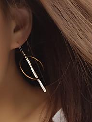 Feminino Brincos Curtos Brincos em Argola Estilo simples Europeu bijuterias Cobre Formato Circular Forma Geométrica Jóias Para Festa