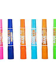Plastic Business Permanent Markers(12Color)