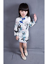 Cosplay Costumes Princess Fairytale Festival/Holiday Halloween Costumes White Print DressHalloween Christmas Carnival Children's Day New