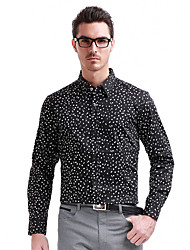 Seven Brand® Men's Shirt Collar Long Sleeve Shirt & Blouse Black-799A390588