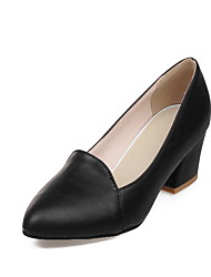 Women's Loafers & Slip-Ons Summer Fall Comfort PU Office & Career Dress Casual Chunky Heel
