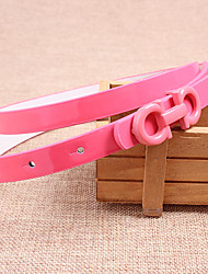 Women Leather Fashion Skinny Belt,Vintage / Cute / Party / Casual Alloy