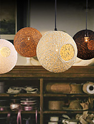 Rattan Art Pendant Lamp Restaurant Droplight Hand Knitted Small Pendant Lamp Coffee Shop Hanging Lighting