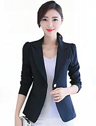 Women's Solid OL Style Work Slim All Match Fashion Blazer,Simple / Street chic Shirt Collar Long Sleeve