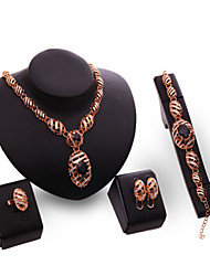 Latest Ladies Fashion Euramerican Exaggeration Jewelry Set / Necklace / Ring / Earrings / Bracelet