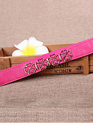 Women Leather Flowers Wide Belt,Vintage / Cute / Party / Casual Alloy