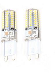 5W G9 Luces LED de Doble Pin C35 64 SMD 3014 450 lm Blanco Cálido Decorativa AC 100-240 V 2 piezas