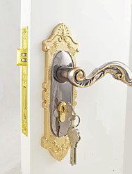 Interior Door Lock / Lock Set / Gold and Black Ni Plating Finish