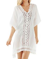 Une-pièce / Robes Légères Aux femmes Couleur Pleine Une-Pièce Licou Mousseline de soie / Tricot