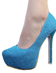 Women's Shoes Leatherette Stiletto Heel Heels Heels Party & Evening Black / Blue / Pink / Silver / Gold / Khaki / Coral