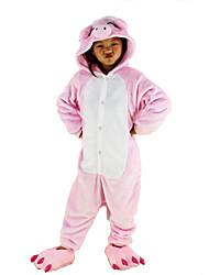 nueva cosplay® cerdo rosado pijama de franela niños Kigurumi (sin zapatos)