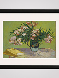Framed Oleanders by Van Gogh  40x50cm Modern Canvas Print Art for Wall Decoration Ready To Hang