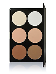 Brightly Makeup Palette Women 6 Colors Concealer Tone Base Makeup Skin Color Cover Foundation Contour Face Cream