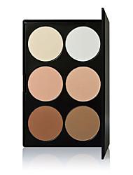 6 Lyse Striper & Bronse Striper Tørr Pudder تغطية Concealer Ujevn hudtone Naturlig Poreredusering Brighte Pustende AnsiktRødbrun Naturlig