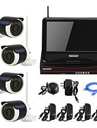 yanse® Stecker und 10-Zoll-LCD-Bildschirm drahtlose NVR Kit p2p 960p HD IR Nachtsicht Sicherheits-IP-Kamera WIFI CCTV-System spielen