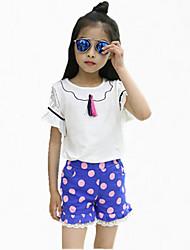Menina de Conjunto Verão Algodão Azul