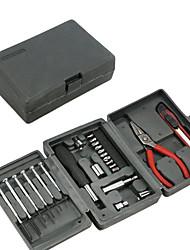 tres capas se pliegan juego de herramientas de hardware