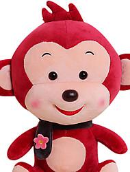 Fubao mono mono mascota del zodiaco del mono de marionetas muñeca segura 50cm juguetes de peluche de vino tinto