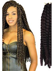 12-24 polegadas crochet trança havana mambo afro torção cabelo extensão 99j #
