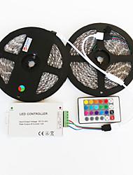 zdm ™ 2x5m wasserdicht 144w 5050 smd RGB-LED-Lampe Streifen 1bin2 Signalleitung IR24 Eisen-Controller (DC 12 V 12a)