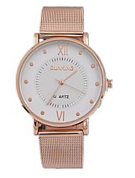 Masculino Relógio de Moda Quartz Relógio Casual Lega Banda Relógio de Pulso Dourada